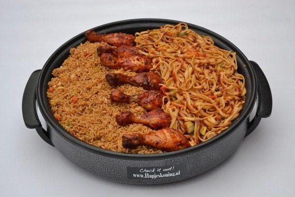 Bami-Nasi pan thuisbezorgd en ophalen